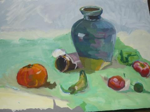 色彩作品-1 - 月冷清秋 - 后花园