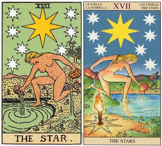 塔罗牌中太阳月亮星星的画法
