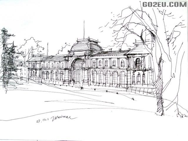 德国的房子简笔画