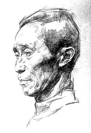 素描(男老人头像步骤画法)