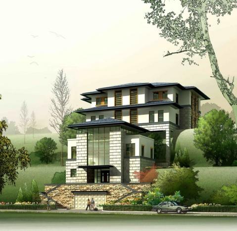 农村别墅顶层设计图
