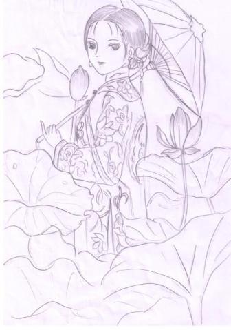 百合花的画法 铅笔画图片大全_百合花的画法