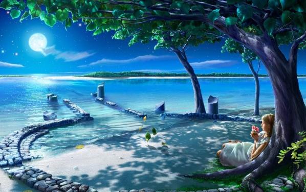 [美图欣赏]梦幻星空 - 山间溪流 -   山间溪流的休闲屋