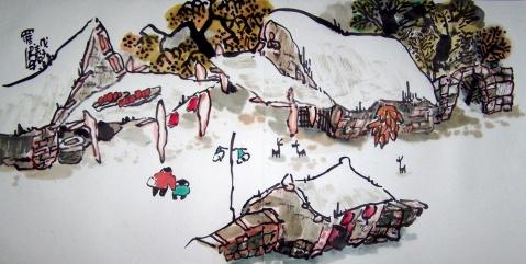 """不可不看的""""田园山水现象""""之(八十一) - 书画家罗伟 - 书画家罗伟的博客"""