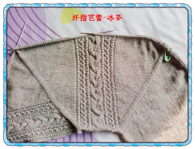 从上往下织的代毛花劲的鸡心领毛衣解图 - gouzhizhe - gouzhizhe的博客