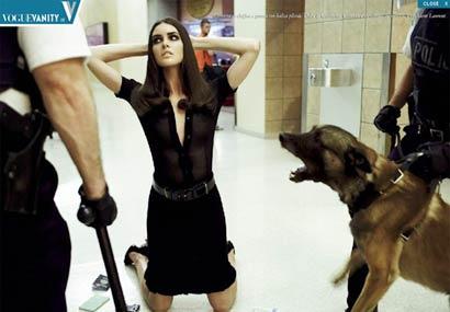 警察抓捕女犯现场直击 组图