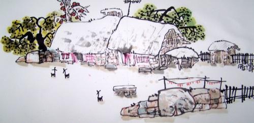 [原创国画]乡村记忆系列(三十二)2008/04/29画家罗伟_书画家罗伟的BLOG_新浪博客 - 书画家罗伟 - 书画家罗伟的博客