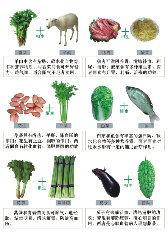 引用 食物的相生相克(图文版) - 华胜 - 我的博客