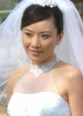 张文慈婚纱图 - 水无痕 - 明星后花园
