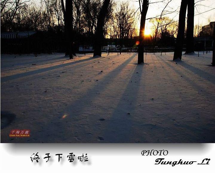今冬的第一场雪(PIC Original) - 千淘万漉 - 千淘万漉 de 花果山