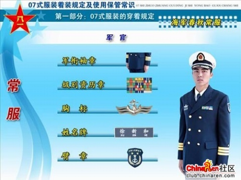 07式新军装之军衔标志 胸标 臂章图片