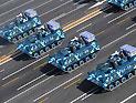 空降兵战车方队通过天安门接受检阅