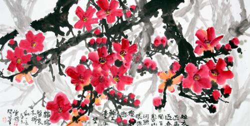 花(书画收藏) - 九月黄昏 - 黄昏唱晚