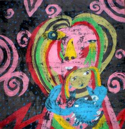 引用 儿童重彩画欣赏 - 红黄蓝 - 学习中……