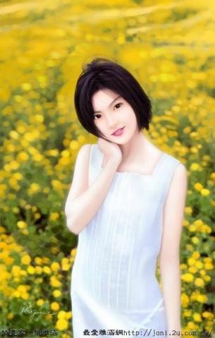 张雅涵手绘美女 - 真水无香  - 香格里拉 花开的地方