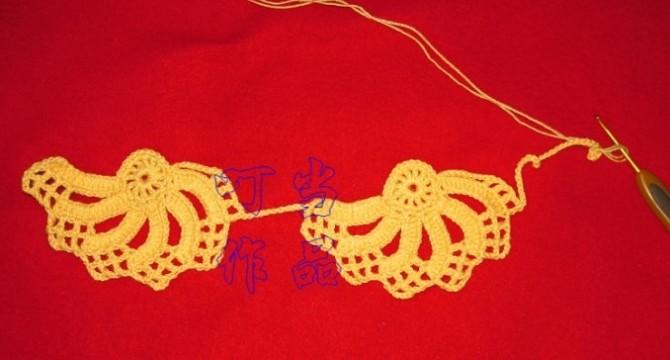 钩针-双色拼花围巾(添加图解) - 浮萍 - 浮萍的博客