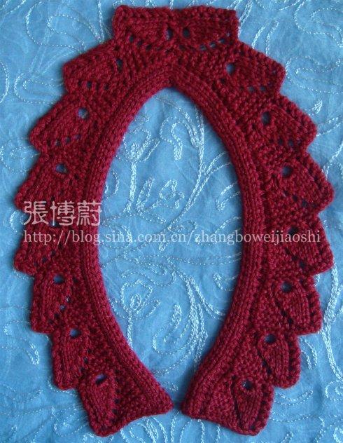 灵活运用编织符号,动脑动手编织简单漂亮的领子(下)