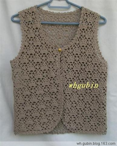 同种棉线的另一款背心 - 红色郁金香 - 我的博客