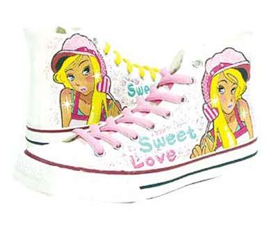 动漫女生鞋子手绘