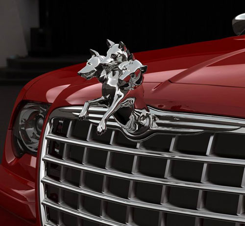 海外网友调侃克莱斯勒 设计 三狗头 车标 auto1982 李瑞高清图片