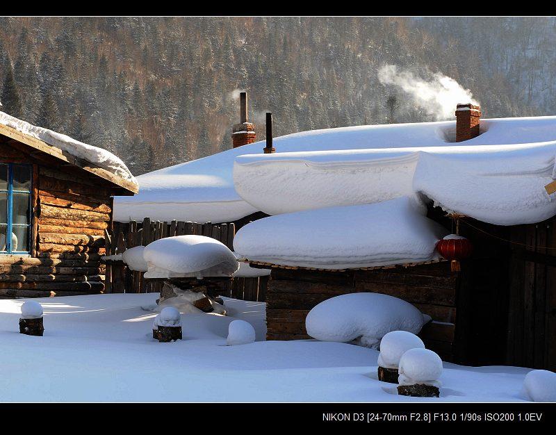 雪乡 农家摄影基地的院子里 - 海阔山遥 - .