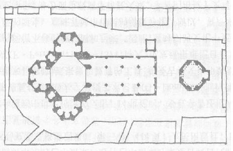 欧式教堂平面图