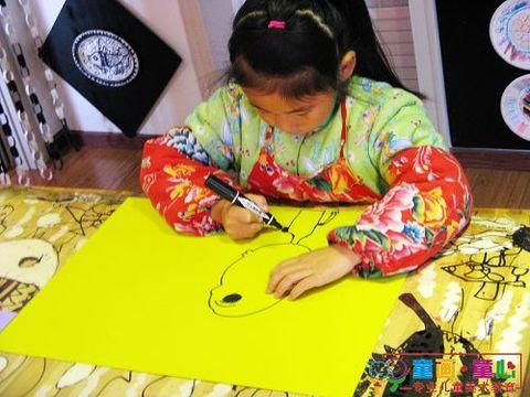 童画童心08秋季启蒙B1班美术活动12——吹泡泡乐 - 童画-童心儿童美术 - 童画-童心儿童美术