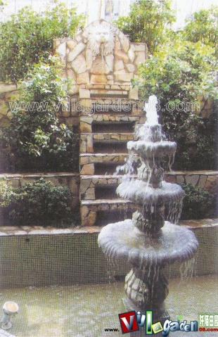 欧式台阶式水池小品