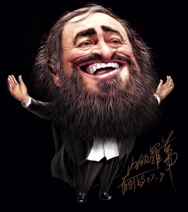帕瓦罗蒂漫画像 - 以歌 - 以歌原创 YIGE Original