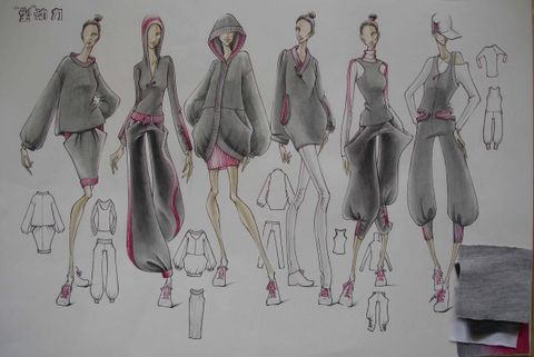 """工作室9同学的9个系列入围""""即发杯""""针织服装设计大赛"""