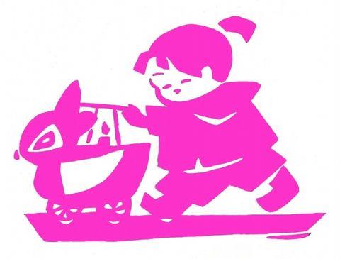 为我侄子和侄女画的画 - 野蔷薇(何鸣芳) - 我的博客