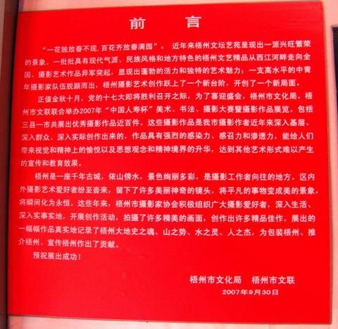 【个人日记】喜迎十七大.梧州市中国人寿杯美术.书法.摄影作品展纪实 - 柠檬棒棒糖 - 筱晴雅舍