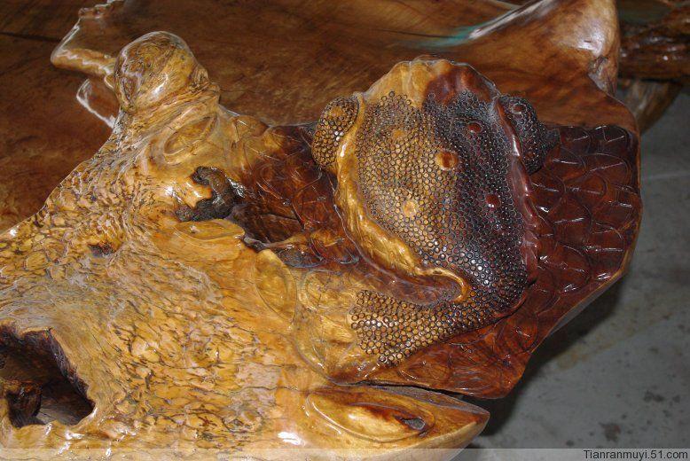彪悍霸道的缅甸黄金樟根雕大茶几 茶桌 茶台 ..收藏级 - 德福轩根艺 - 根雕.自然.艺术.生活