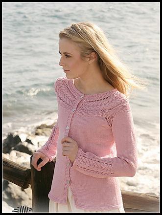 粉红春装圆肩开衫,图解已翻译  - 梨园春色 - 秋天的果实