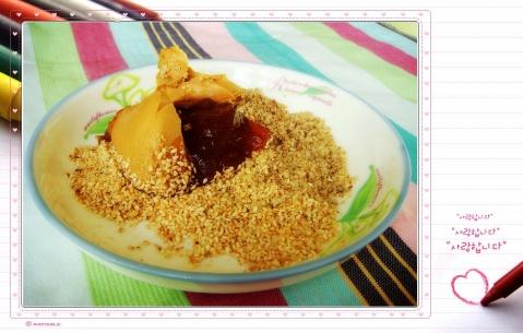 甜点---芝麻糯米糍 - 海阔山遥 - .