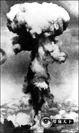 1945年8月6日,美国在广岛投下原子弹