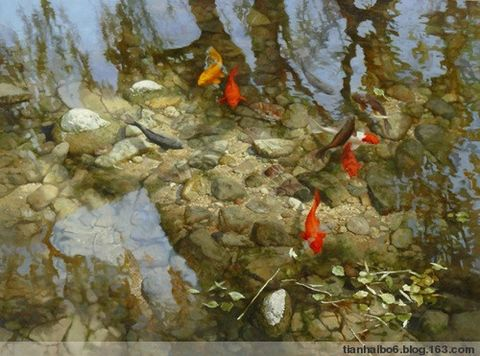油画50 - 云游老道  - 崂山隐士的茅庐