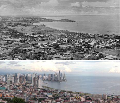 巴拿马首都巴拿马城——1930年和2009年
