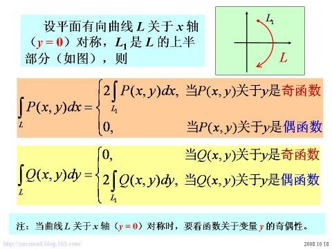 如何利用对称性化简对坐标的曲线积分? - calculus - 高等数学