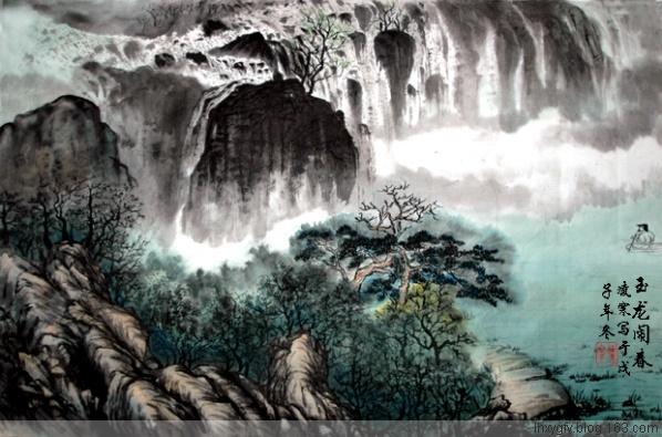 七排[新韵]题凌寒玉龙闹春16/1/09 - 古枫 - 古枫的博客