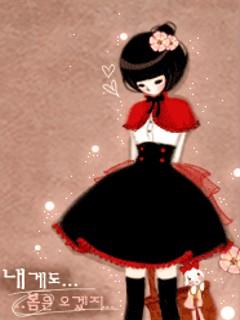 韩国动态插画卡片 - 玫瑰夫人 -