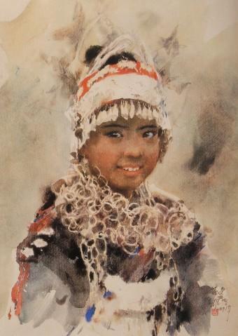 关维兴水彩人物   关维兴 人物 水彩画   特别是他的水彩