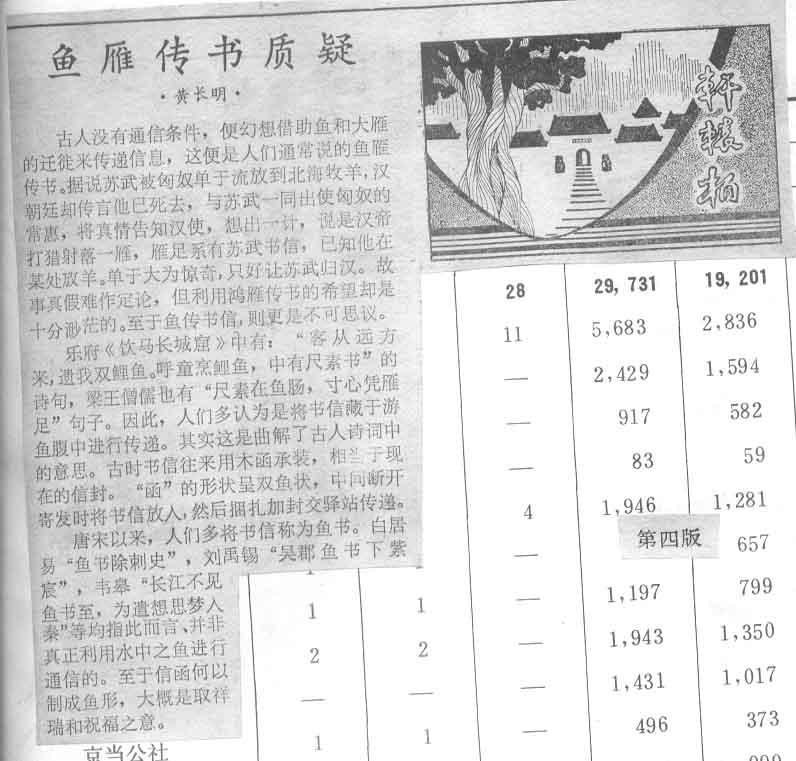 """""""鱼雁传书""""、""""鸿雁传书""""的由来 - 水化学 - 中学化学"""