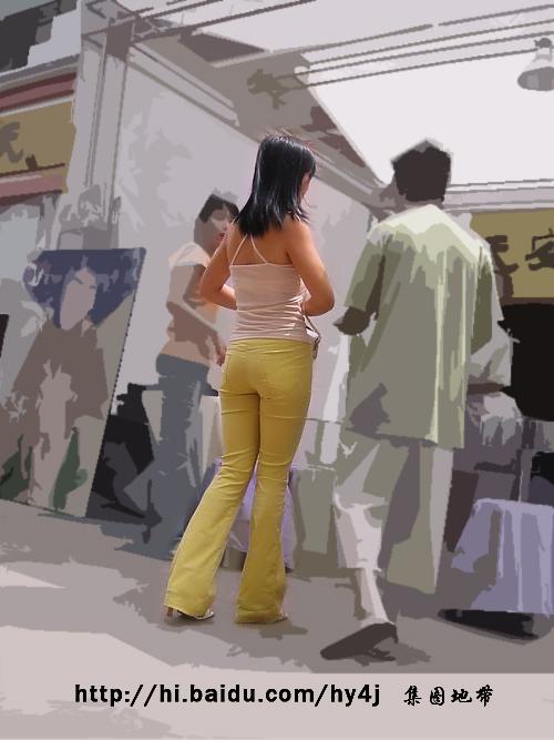 黄裤翘臀吊带MM - 源源 - djun.007 的博客