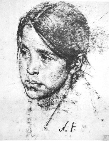 尼古拉·菲钦的肖像素描(原创) - 望虎松堂 - 望虎松堂