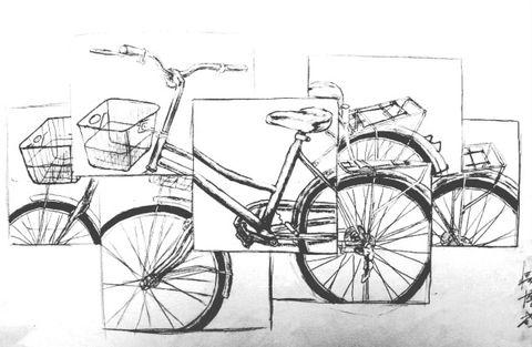 设计素描----自行车的重构2(共青学院06级学生原创)图片