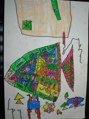 简笔画-美丽的三角鱼