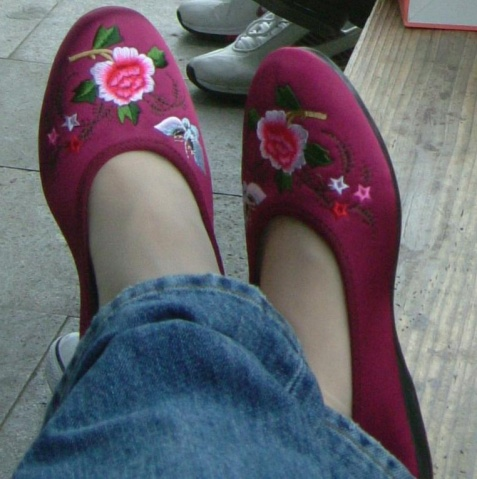 恋一带布鞋美女