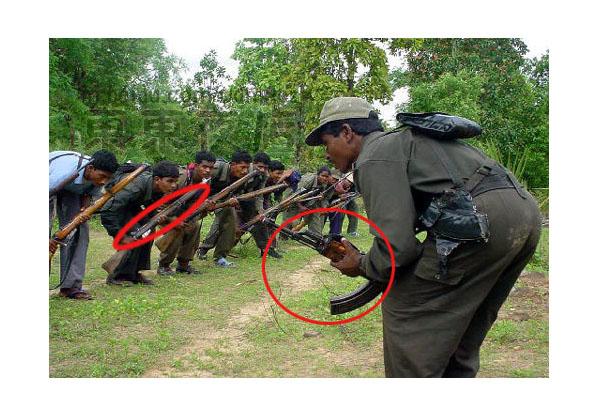 纳萨尔派武装(印度毛派武装)人员联系作战(图)