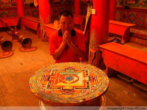 我的川藏行16—目睹藏传佛教珍品--彩沙制作的坛城 - 强哥问候 - 强哥问候